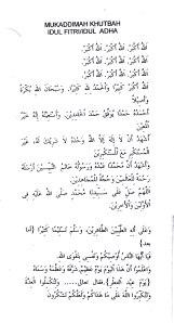Muqodimah Khutbah Idul Fitri Adha